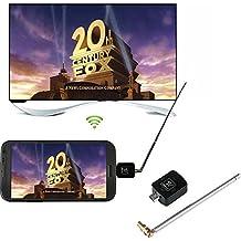 Cewaal Ricevitore TV digitale DVB-T, Ricevitore sintonizzatore TV DVB-T Micro USB per smartphone Android Tablet PC HDTV