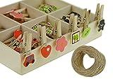 Craft Clips Note Clip Memo Foto Halter Karte Papier Heringe mit Aufhängern geliefert Holz, klein 48Stück im Karton