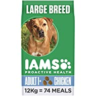 Iams ProActive Health Complete and Balanced Dog Food with Chicken for Large Breeds, 12 kg