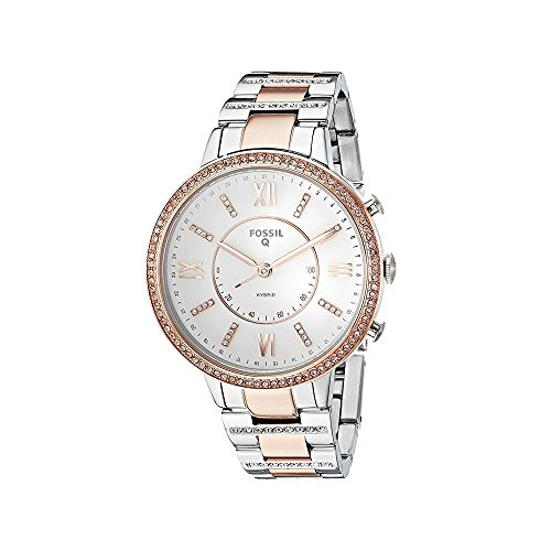 Fossil Womens Analogue Quartz Connected Wrist Watch with Stainless Steel Strap FTW5011