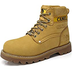 CAMEL CROWN 6 In Premium Waterproof Botas Cortas para Mujer Clásicas Botas de Combate Winter Soft Toe Work Boots