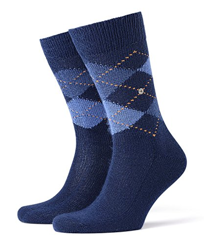 Burlington Herren Preston klassisches Argyle Muster 1 Paar Casual Socken, Blickdicht, Blau (royal Blue 6000), 40/46