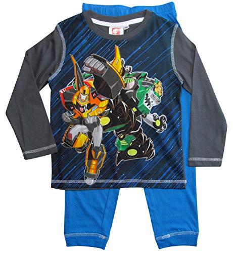 Transformers Schlafanzug Jungen Pyjama Lang (Grau-Blau, 98-104) (Transformers Schlafanzug Jungen)