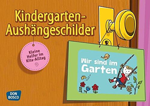 Kindergarten-Aushängeschilder. Kleine Helfer im Kita-Alltag
