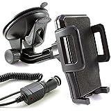 Coche Juego para Huawei Mate 8/mate s/P8/P8Lite/Y3/y625/mate 7/Ascend G7P7G620s Mini Y550P6G730Y330Y530G630G6Y300/Soporte de coche para el parabrisas en negro con cable para coche