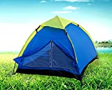 Inditradition 2-Person Family Camping & Hiking Tent / All Weather Dome Backpacking Tent (Waterproof, With Floor Mat & Net Window), Multi Color