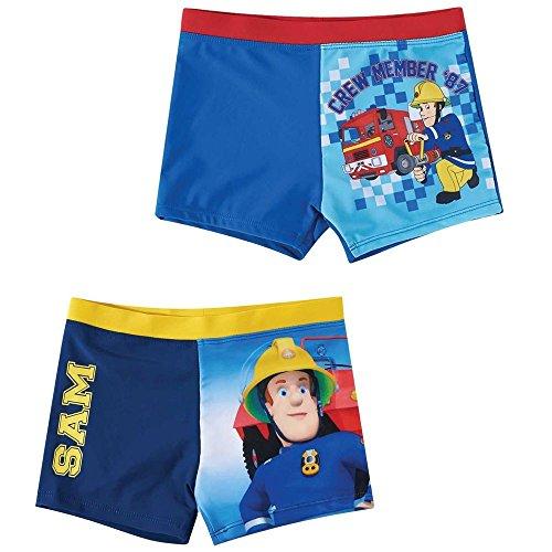 Sam il Pompiere - Fireman Sam - Bambini costume da bagno - Pantaloncino 104-140, Badehose:104, Farbe:Dunkelblau