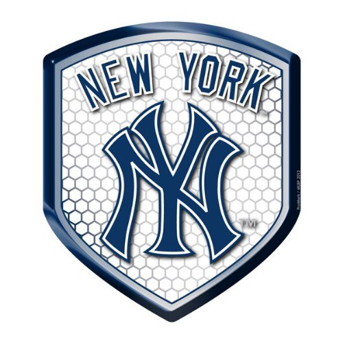 mlb-new-york-yankees-team-shield-automobile-reflector