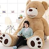 "Vercart 133, 133""luz color marrón gigante oso de peluche Peluche Animal De Peluche Juguetes Regalo para niños amigos"