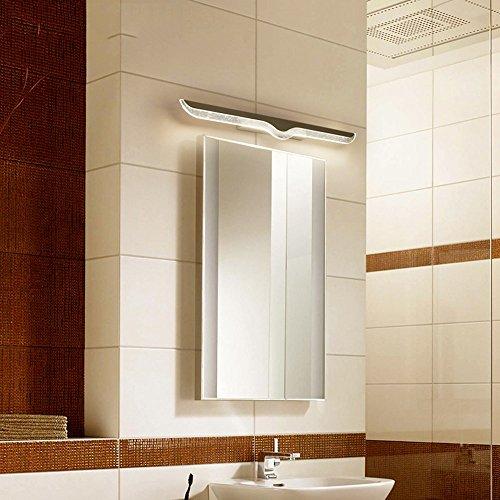U-Enjoy Kronleuchter 40 cm-120 cm-Spiegellampe Badezimmer Wasserdichte Anti-Fog Kurzes Licht LED-Kabinett Stahl Glas Moderne Edelstahl-Wand Kostenloser Versand [Warm White (2700-3500K) & 100CM 20W] -