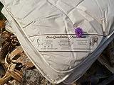 Bettdecke 155x220cm Sommer 100% Schurwolle/Schaf Qualitäts-Naturbett Wärmestufe1
