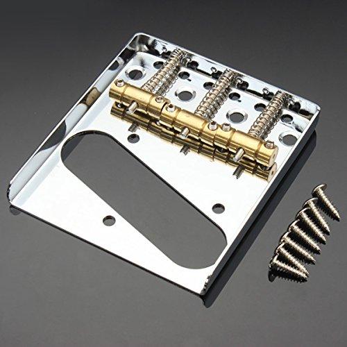 LaDicha Tl Guitar Tailpiece Guitar Bridge Singal Coil Copper Tailpiece - Copper Bridge