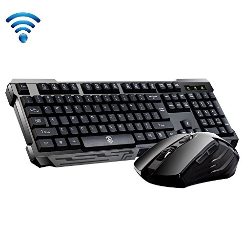 urchoiceltd® Delog V60 Multimedia Ergonomische USB Wireless Gaming Tastatur + 2,4-GHz 10