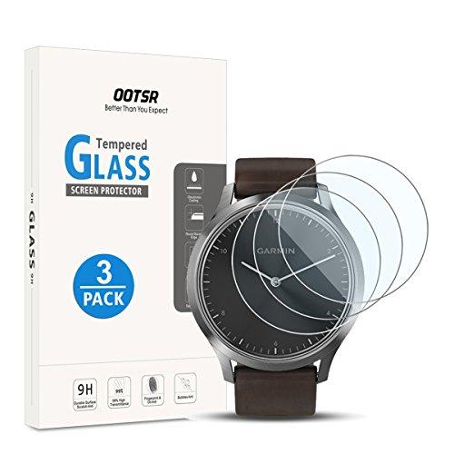 OOTSR [3 Pièces] Protection Écran pour Garmin Vivomove HR, Film Protecteur en Verre Trempé pour Garmin Vivomove HR [résistant aux Rayures]