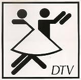 Aufkleber, Piktogramm, Tanzen, Tanzsport, zum aufkleben von innen im Fenster