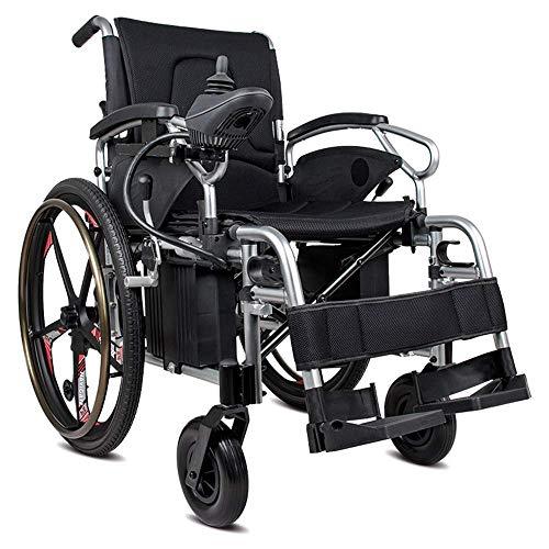 L-Y Zusammenklappbarer Rollstuhl für Ältere Menschen Elektromobilrollstuhl mit Wiederholbarer Rückenlehne, Verstellbarer Fußstütze und Lithium-Ionen-Polymerbatterie für Stühle -