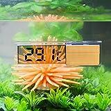 Tookie Kunststoff Metall 3D Digital Elektronische Aquarium Thermometer Wasser Thermometer Für Aquarium Aquarium Marine Temperatur(Gold)