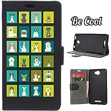 BeCool® - Funda carcasa tipo Libro para Bq Aquaris U - U Lite, protege tu Smartphone ya que se adapta a la perfección, tiene Función Soporte, ranuras para tus tarjetas y billetes sin olvidar nuestro exclusivo diseño. Razas de perro