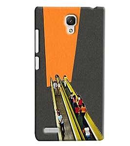 Blue Throat Escalator Scene Printed Designer Back Cover/ Case For Xiaomi Redmi Note Prime