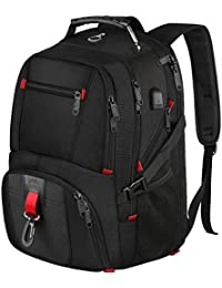 MATEIN Large Laptop Backpack, Travel Water Resistant Work Backpack with USB Charging Port & Headphone Hole, 17.3 Inch XL Hand Luggage Business Rucksack, TSA Computer Bags for Men, Women - Black