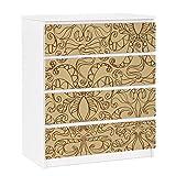 Apalis 91348 Möbelfolie für Ikea Malm Kommode - selbstklebende Spirituelles Muster, größe 4 mal, 20 x 80 cm, beige