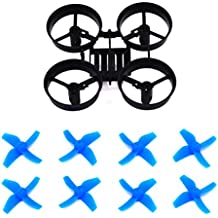 LHI RC Quadcopter Frame and 8pcs Propellers Blue for Eachine E010 Blade Inductrix Tiny Whoop