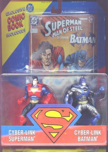 cyber-link-superman-cyber-link-batman-5-action-figures-with-comic