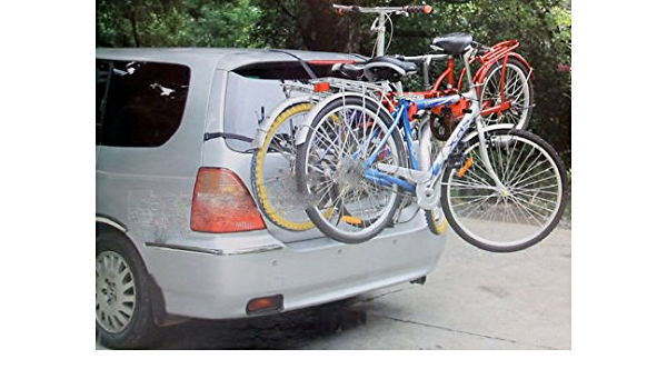 UKB4C 3 Bicycle Bike Car Cycle Carrier Rack Universal Fitting Saloon Hatchback Estate High Level
