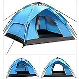 AWADUO Camping Zelt, 4 Personen Zelt Wasserdicht Automatische Sofortige Pop-up Doppelschicht Backpacking Zelt für Camping Wandern Picknick Reisen Außeneinsatz (grün)