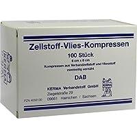 Zellstoff-Vlies-Kompressen 12-fach 6x8 cm unsteril 100 St. preisvergleich bei billige-tabletten.eu
