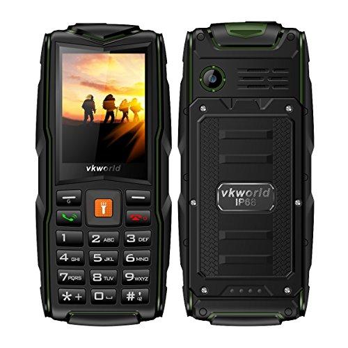 Foto de Teléfonos Móviles Libres Baratos,VKworld New Stone V3 IP68 Impermeable,a Prueba de Choques y Polvo,Mobile Phone con Teclado Grande para Mayores(Triple Sim,2.4