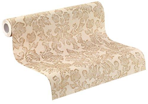 rasch Vlies-Tapete, Ornamente, klassisches Muster, braun, Gold, 441451 Belleville