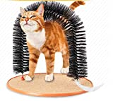 FELICIKK Cat Scratching Machine Cat Toy Dog Prodotti per Animali Arco Pennello a Spazzola di Lana Attacco Cat Scratch Board (Color : Brownish Black)
