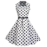 TWIFER Frauen Vintage Kurzarm O Hals Floral Printed Abend Party Prom Swing Kleid
