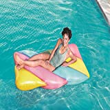31l Sommer Neue Candy Farbe Marshmallow Schwimmende Reihe Aufblasbare Spielzeuge, Float Ring Player...
