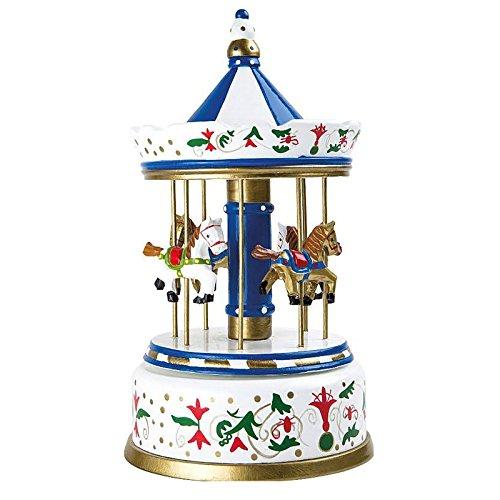 Legler Caja de música: Carrusel Nostalgia Grande, Madera, Multicolor, 16.00 x 16.00 x 28.00 cm