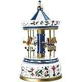 Small Foot Carillon Giostra Nostalgica Grande, Legno, Multicolore, 16.00x16.00x28.00 cm