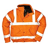 PORTWEST RT32 - HI-vis Bomber Jacket Go/RT, 1 Stück, 5XL, Orange, RT32ORR5XL