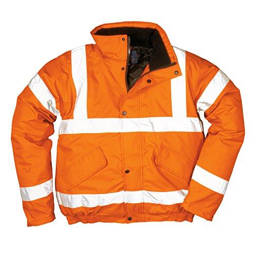 Klassische Warnschutzjacke Arbeitsjacke Warnjacke Bomberjacke_Orange_4XL / 72-74 - 4XL EU / 4XL UK