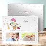 Baby Fotobuch Vorlagen, Schmatzerl 28 Seiten, Hardcover 290x222 mm personalisierbar, Rot