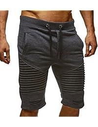 Fat.chot Herren Sportshorts Lightweight Chino-Shorts Kurze Hose Schläge  Elastische Taille Jogging Männer cd9a6e8e1b