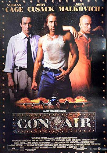 Con Air - Nicolas Cage - John Malkovich - Filmposter 120x80cm gerollt (Nicolas Cage, Con Air)