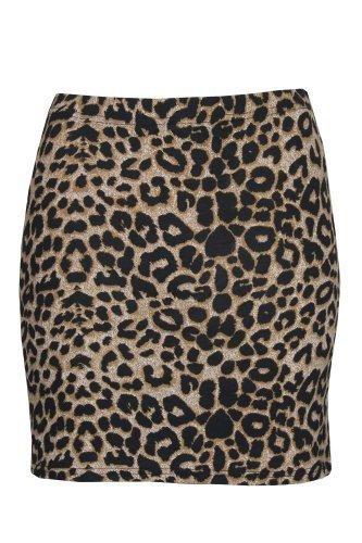 Leopard Mini-rock (Mini-Rock, Leopard, Rosen/ Totenkopf, Streifen, Wow, Damen Gr. Medium, leopard)