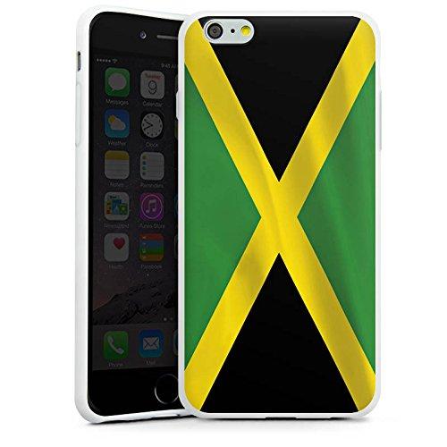 Apple iPhone X Silikon Hülle Case Schutzhülle Jamaica Jamaika Flagge Silikon Case weiß