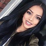 7a anne brazilian soie cheveux vierges droite avec des cheveux de bb de style glueless de mode avant de dentelle perru