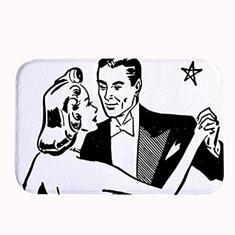 whiangfsoo Dancing Couple Home und Küche Bereich Teppiche Super Saugfähig, #03, 16