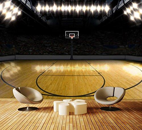 Fototapete Basketball Platz Vlies Tapete M0929 Vliestapete XXL | M 250 x 175 cm - 5 Teile | Vlies (Basketball Vt)
