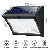 Luce Solare Esterna, Yacikos 60 LED Lampada Solare con Sensore di Movimento Luci Solari Impermeabile 3 Modalità Lampada Solare WirelessdiSicurezza Illuminazione Esterno per Giardino