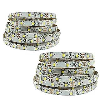 FISHTEC ® Lot de 2 - Rubans 180 cm LED Eclairage de Lit - 2 détecteurs - 60 LED/mètre - Adhésif