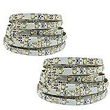 Fishtec ® LED-Streifen, 180 cm, 60 LEDs, zur Unterbettbeleuchtung, mit 2 Bewegungsmeldern, selbstklebend, 2Stück